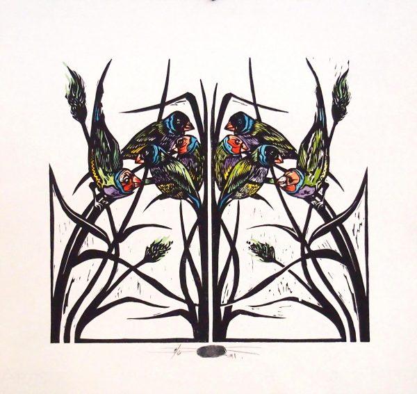 jane eliza dennis artist lino prints